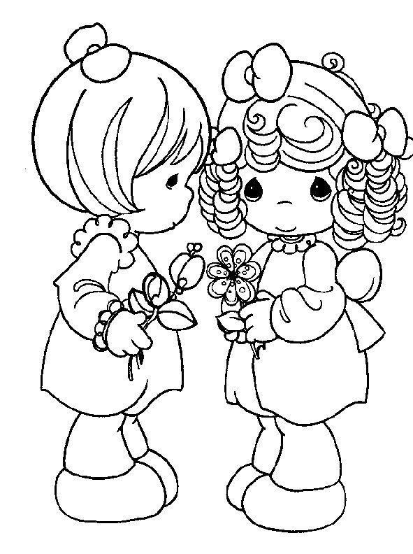 Two Girls Precious Moments Coloring Pages Coloring Pages Love Coloring Pages