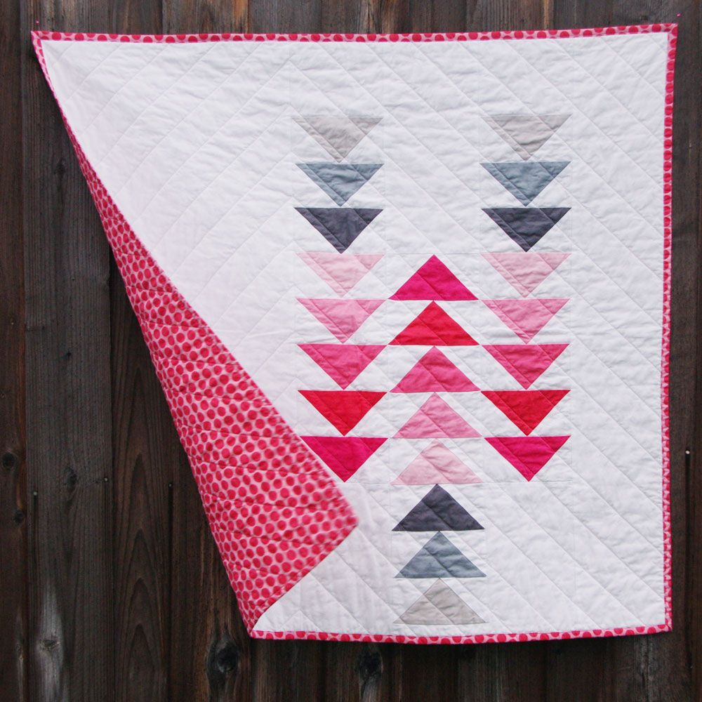 Flying Geese Little Gosling Quilts Flying Geese Quilt Modern Baby Quilt