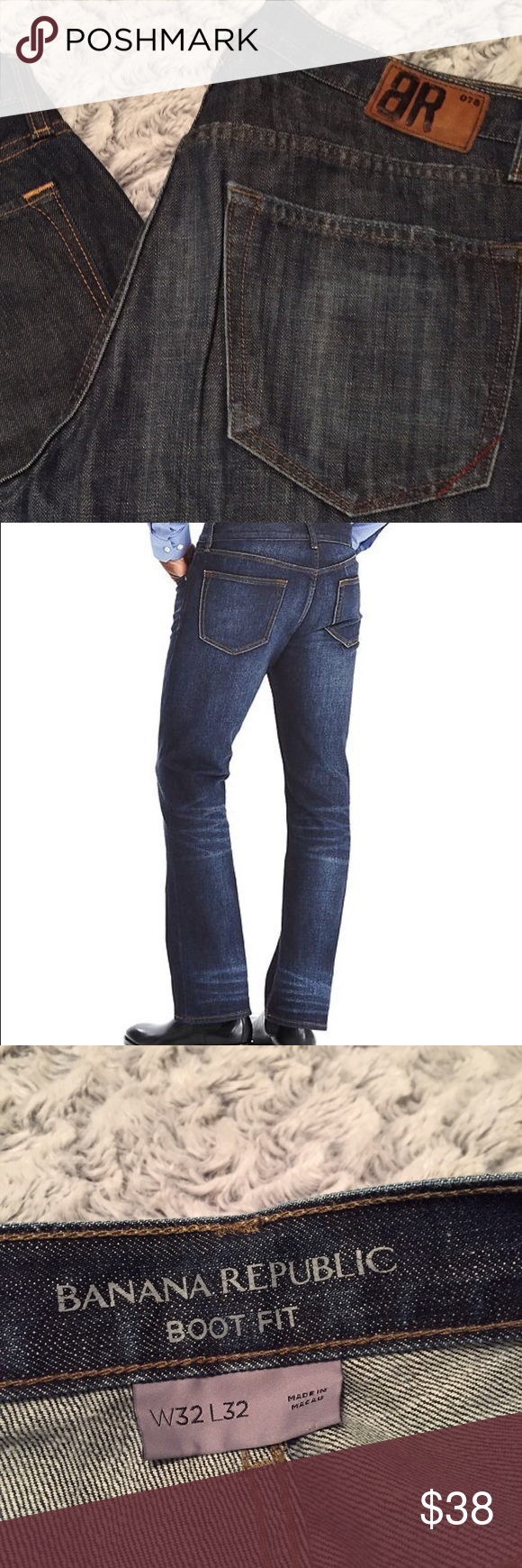 BR Bootfit 32x32 Banana Republic BR Denim Bootfit Jeans Size 32x32 He may have worn these. I don't believe he did. Like New condition. Banana Republic Jeans Bootcut