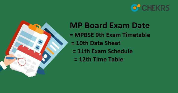 Mp Board Exam Date / Time table mpboard examdate