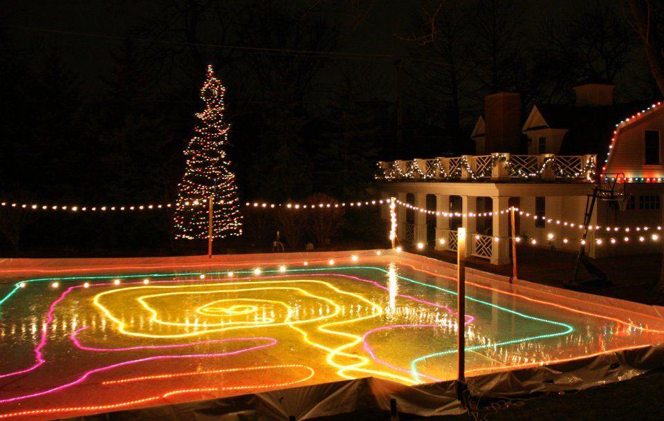 Backyard Rink Lighting - BACKYARD HOME