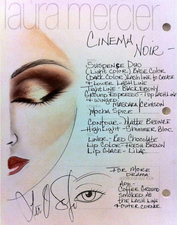 laura mercier cinema noir face chart.