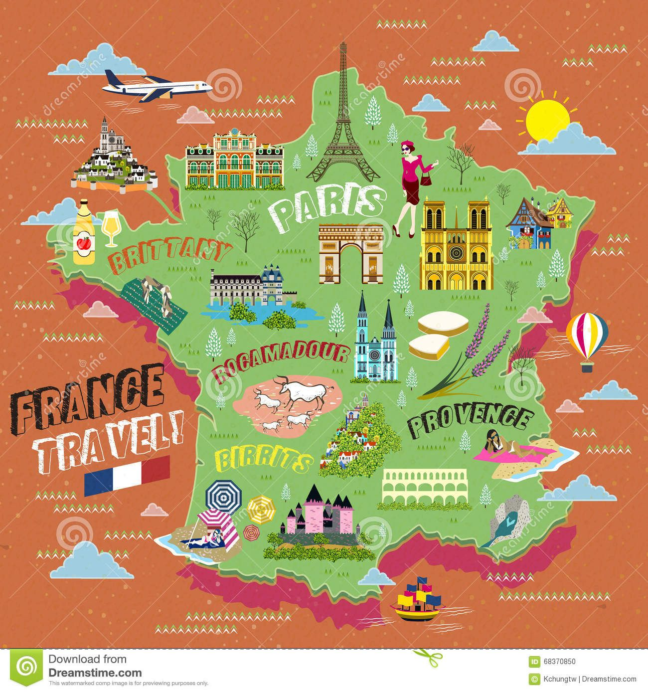 Maps Update France Tourist Attractions Map France Map