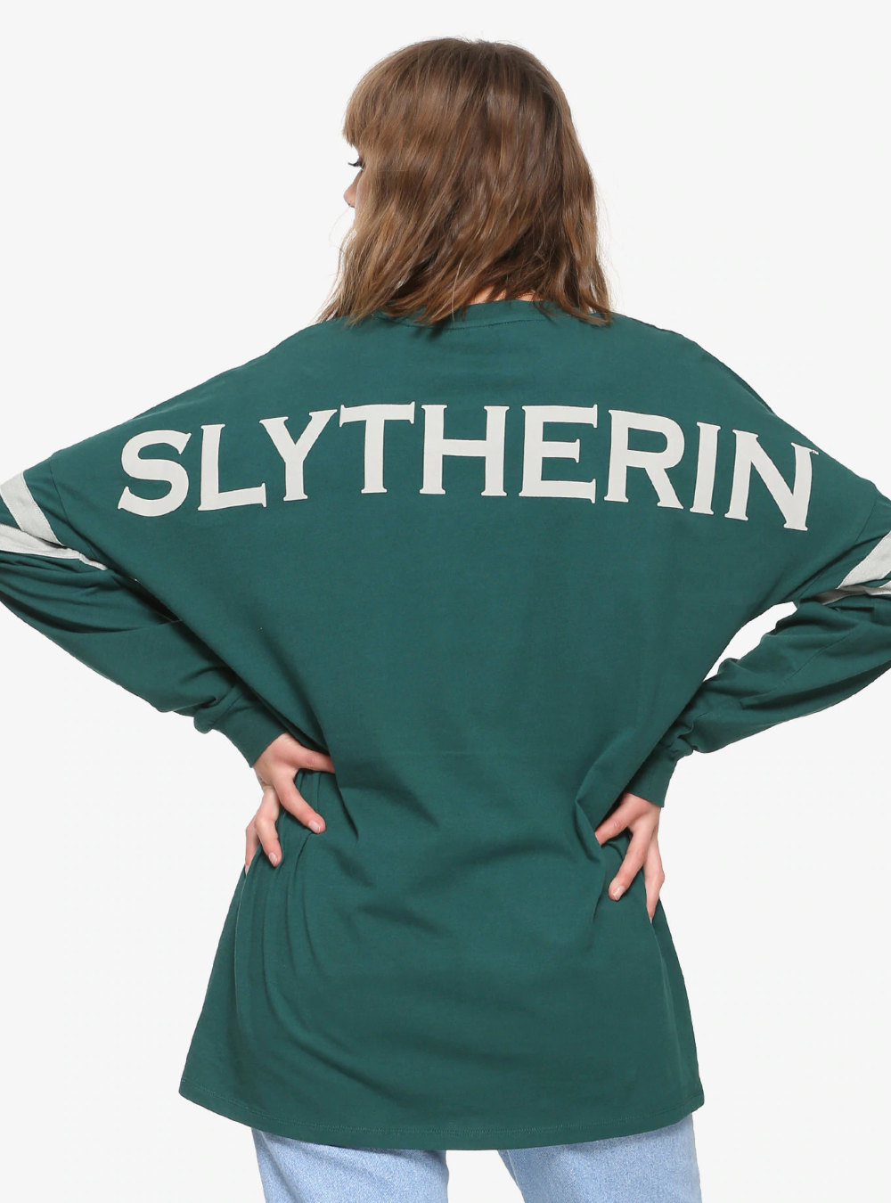 Harry Potter Slytherin House Hype Jersey Boxlunch Exclusive Slytherin Clothes Slytherin Fashion Slytherin [ 1350 x 1000 Pixel ]