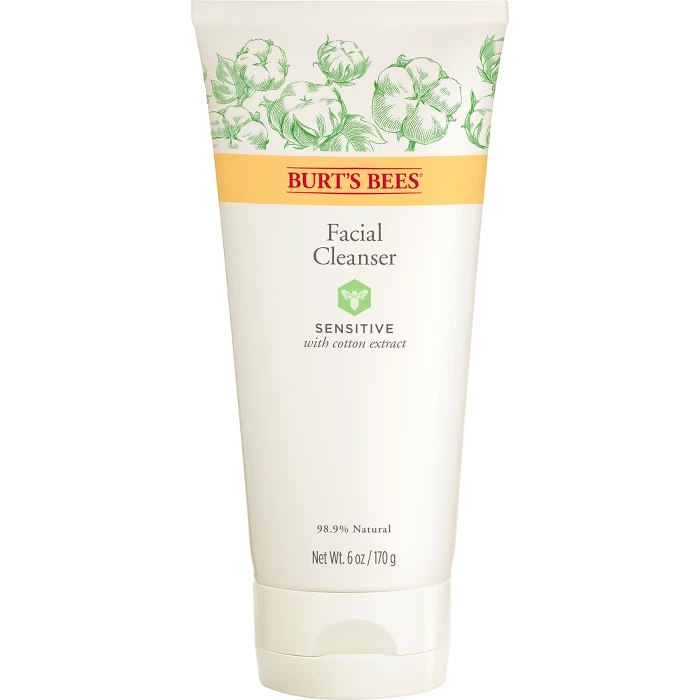 Burt S Bees Sensitive Facial Cleanser 6 Oz In 2020 Cleanser For Sensitive Skin Sensitive Facial Cleanser Facial Cleanser