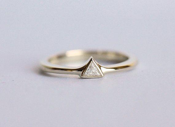 Diamond Engagement Ring Modern Diamond Engagement by MinimalVS