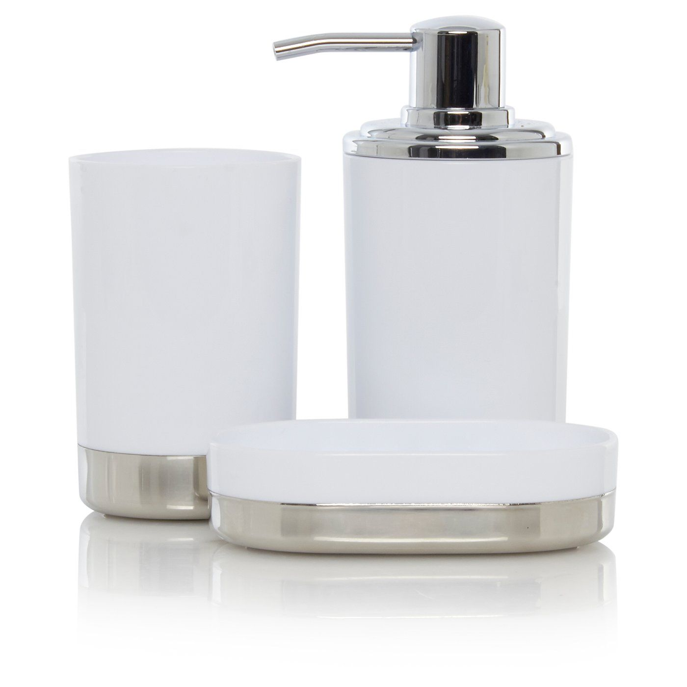 Buy White & Chrome Bath Accessories Range from our Bathroom ...
