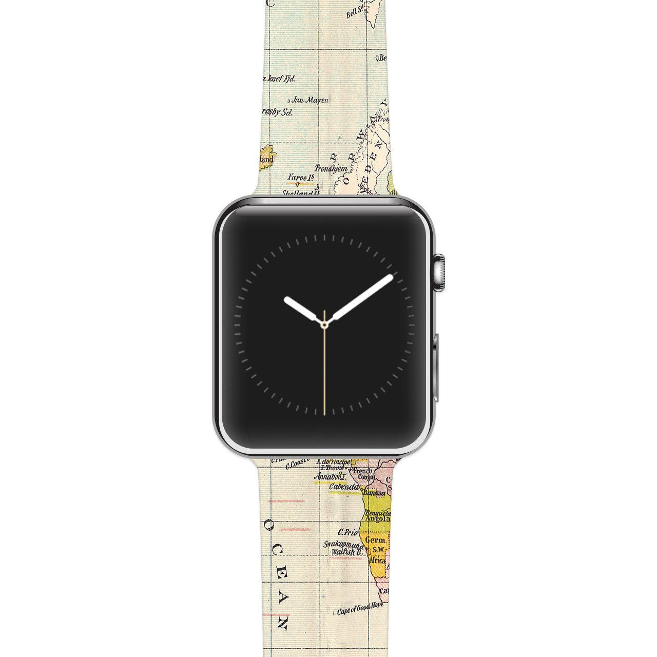 "Catherine Hol be ""Travel"" World Map Apple Watch Strap"