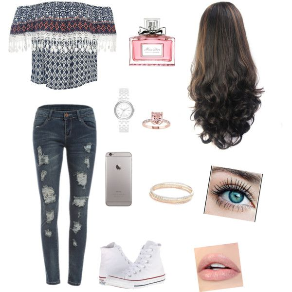 🔥🌺 by rochiilucena8 on Polyvore featuring moda, Sans Souci, Converse, Kate Spade, DKNY and Christian Dior