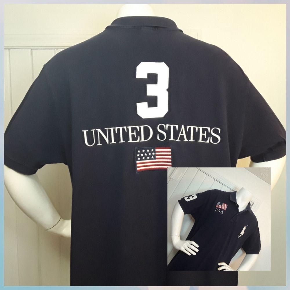 7180ec0f21a5 Ralph Lauren Mens Big Pony Usa Flag Polo Shirts - BCD Tofu House