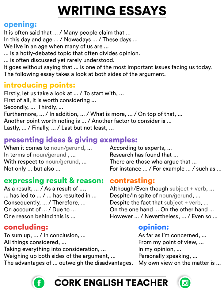 opinion essay phrases