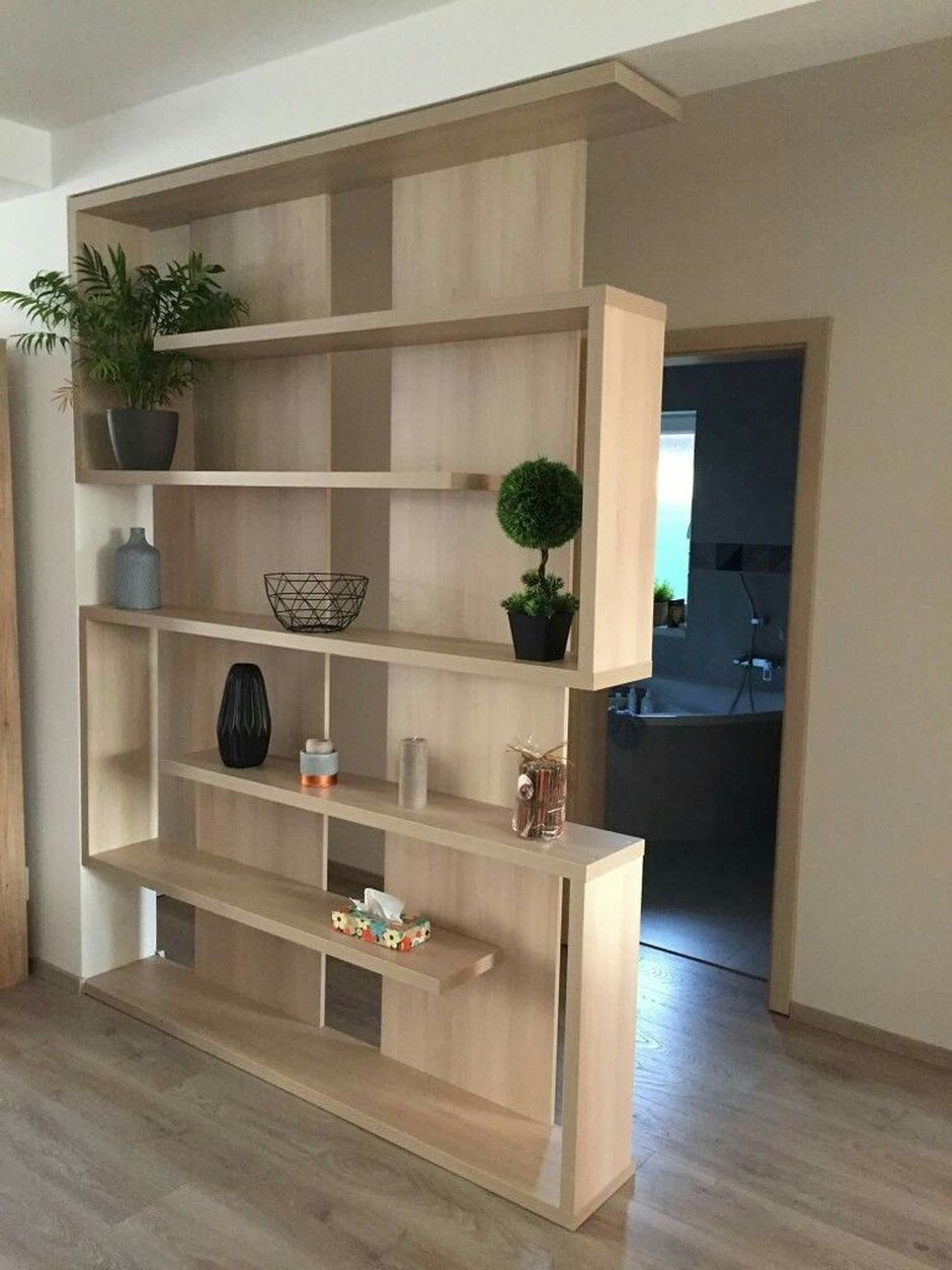 80 Incredible Room Dividers And Separators With Selves Ideas 54 Hoommy Com Ikea Living Room Furniture Room Partition Designs Living Room Partition