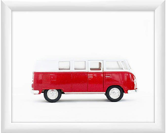 One Kings Lane Leslee Mitchell Red Volkswagen Van Art Volkswagen Volkswagen Van Classic Volkswagen