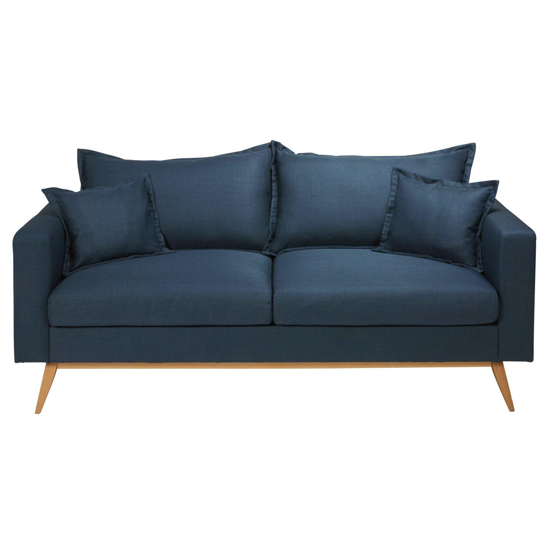 3 Sitzer Sofa Mit Nachtblauem Stoffbezug Avec Images Canape Convertible Maison Du Monde Canape Convertible Bleu Canape Maison Du Monde