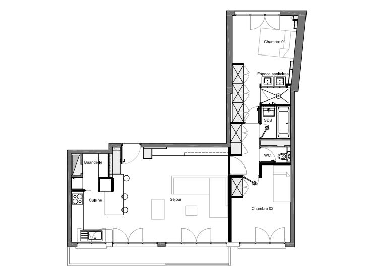 Plan Aménagement Appartement Paris 14