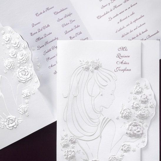 Girl with Purple Roses - Invitation | Free Spirit Invitations