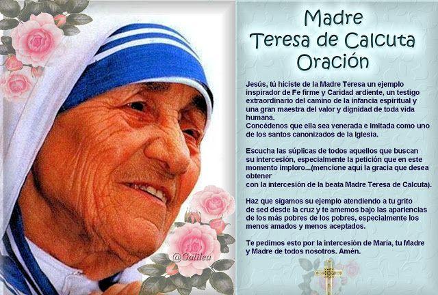 Santa María Madre De Dios Y Madre Nuestra Oracón Madre Teresa De Calcuta Madre Teresa Santa Teresa De Calcuta Teresa De Calcuta Frases