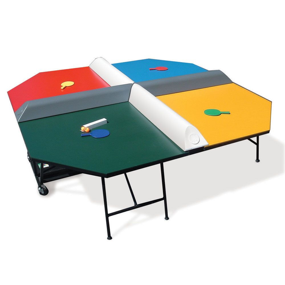 The Four Square Table Tennis Game   Hammacher Schlemmer