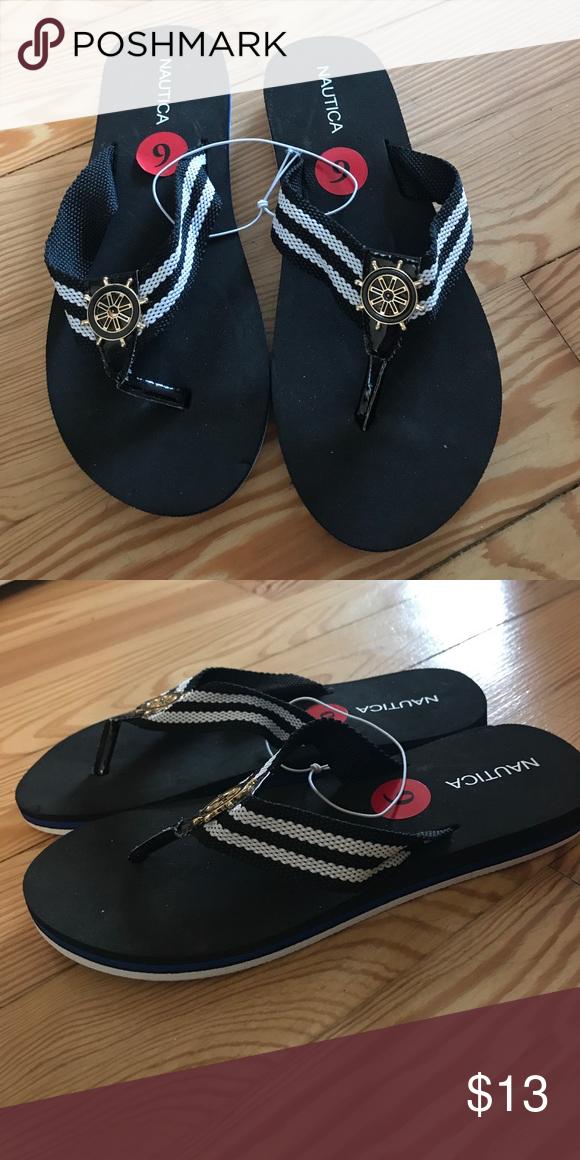 bc4bdd9136bd ❗️Bundle 3  20❗️Nautica flip flops Nautica flip flops. Black and white.  Size 6. Never worn! Shoes Sandals