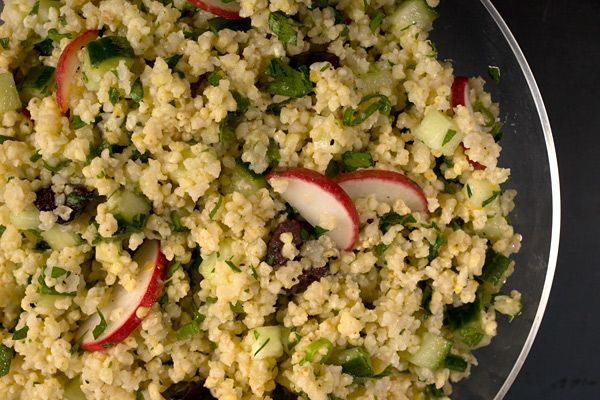 Quinoa Salad with Avocado and Olives - Hodmedods British