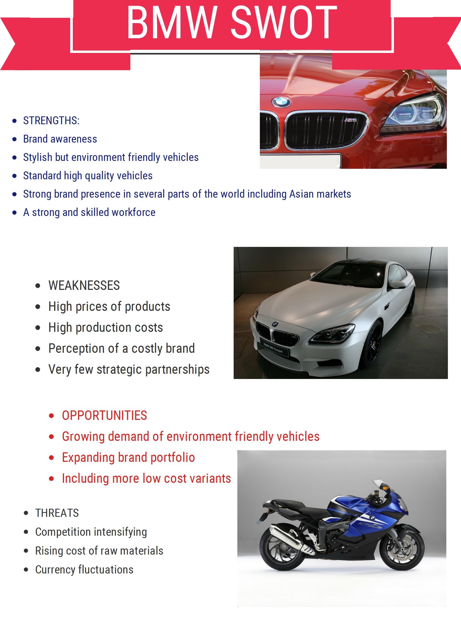 BMW automobiles SWOT Analysis 2016 Cheshnotes Swot