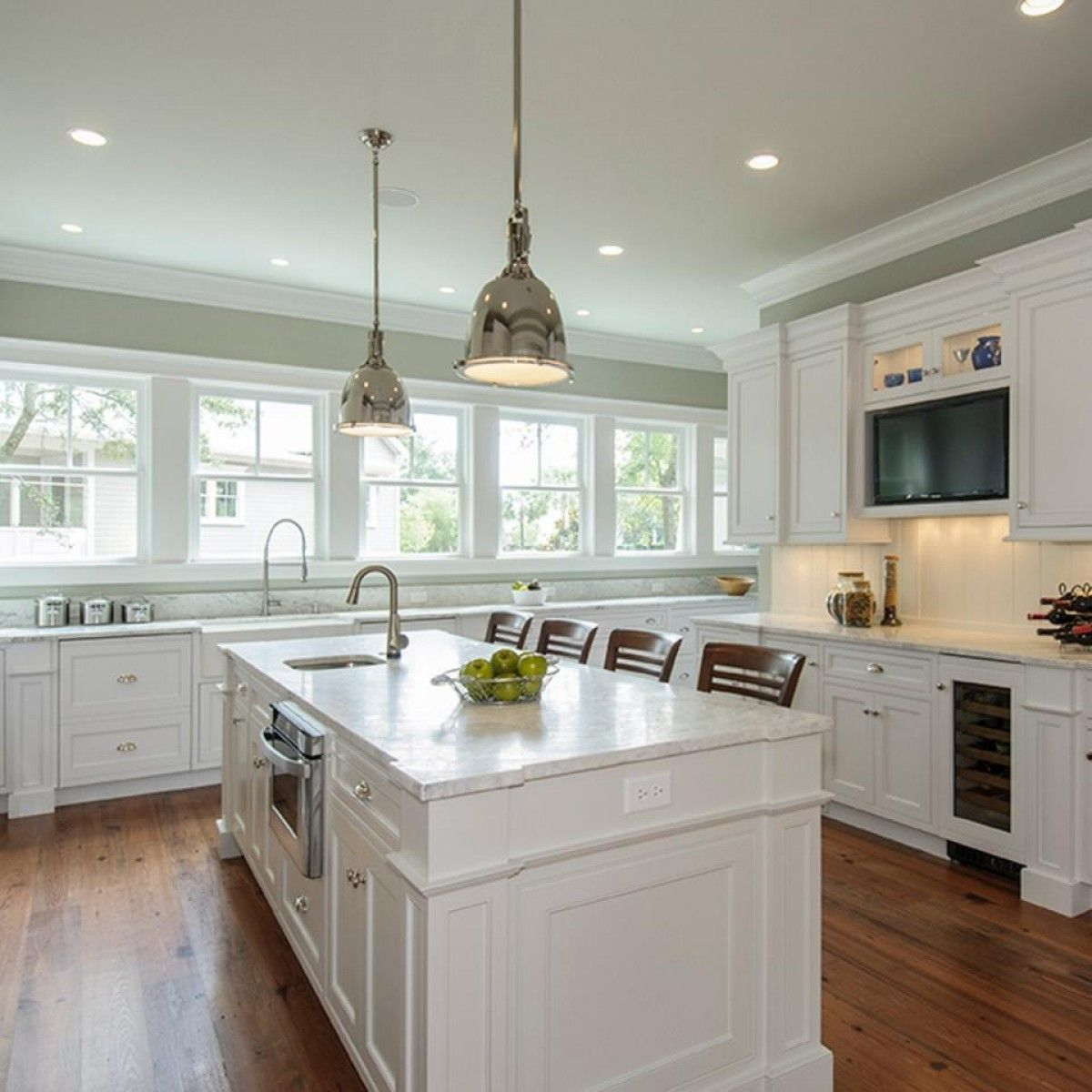 Window under kitchen cabinets  awesome white brown wood stainless glass cool design white kitchen