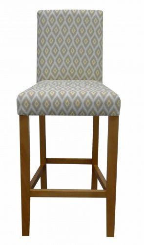 Modern High Back Houston Bar Stool Barstool Kitchen Fabric Stool Upholstered Bar Stools Upholstered Dining Chairs High Back Bar Stools