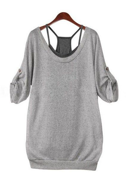 The Blouse Crafted In Cotton Featuring Grey Blouse With Inner