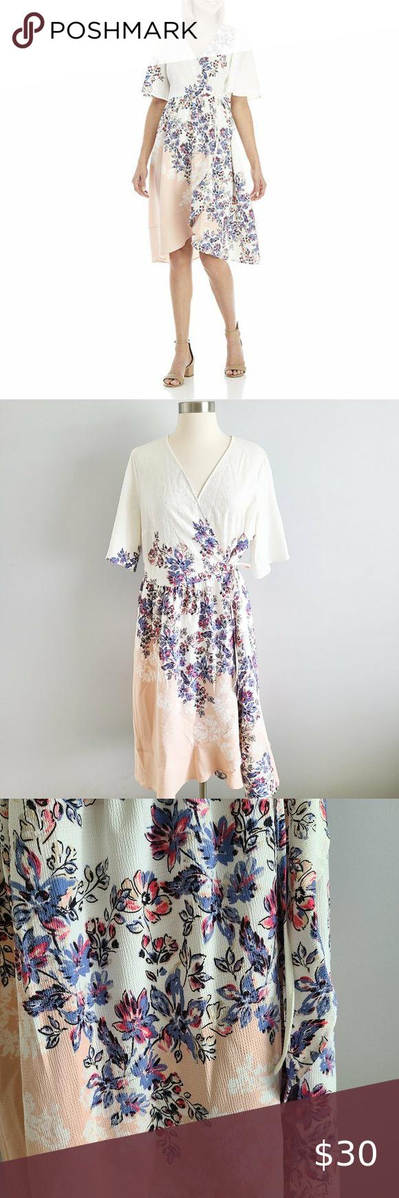 Kaari Blue Floral Wrap Dress Wrap Dress Floral Colorful Dresses Wrap Dress [ 1740 x 580 Pixel ]