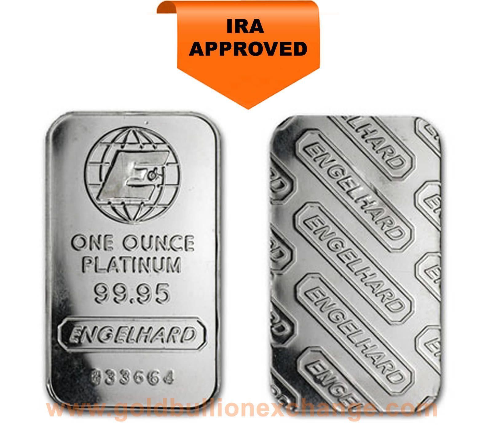 Engelhard Platinum Bar 1 Oz Platinum Gold Coins Gold