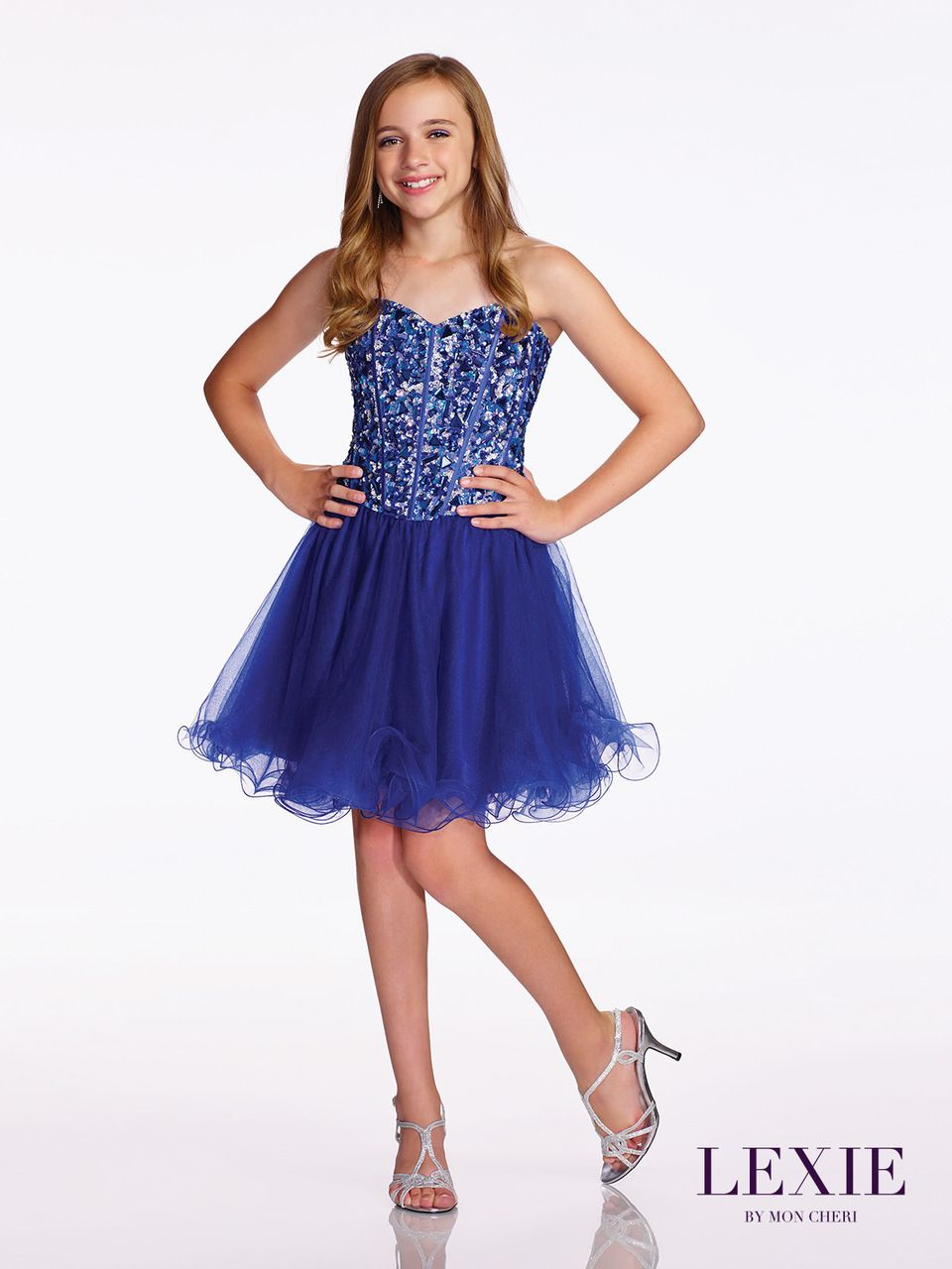 cdab170345 Tween Homecoming Tulle Dress