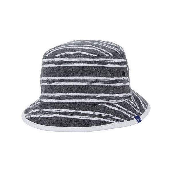 ef8fbfd54bdcd Women s Keds Pattern Reversible Bucket Hat - Black ( 33) ❤ liked on  Polyvore featuring accessories
