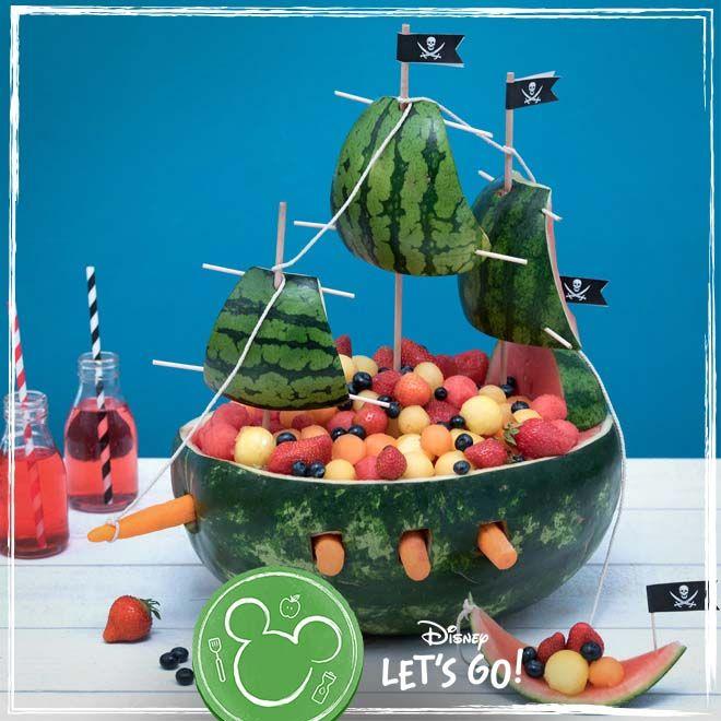 Captain Jack Sparrow S Fruit Ship Fun Kids Food Creative Food Kids Party Food