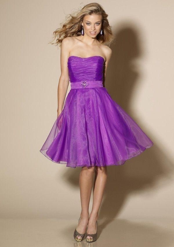 short purple strapless a-line formal dresses juniors - Google Search ...