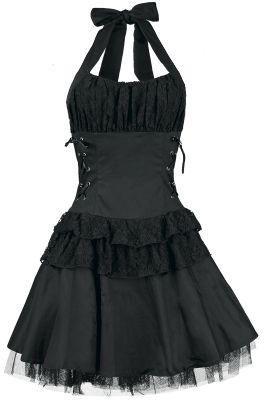 b1000c1ba7 79. Black Frills Halter Dress ------------------ Key  Dresses ...