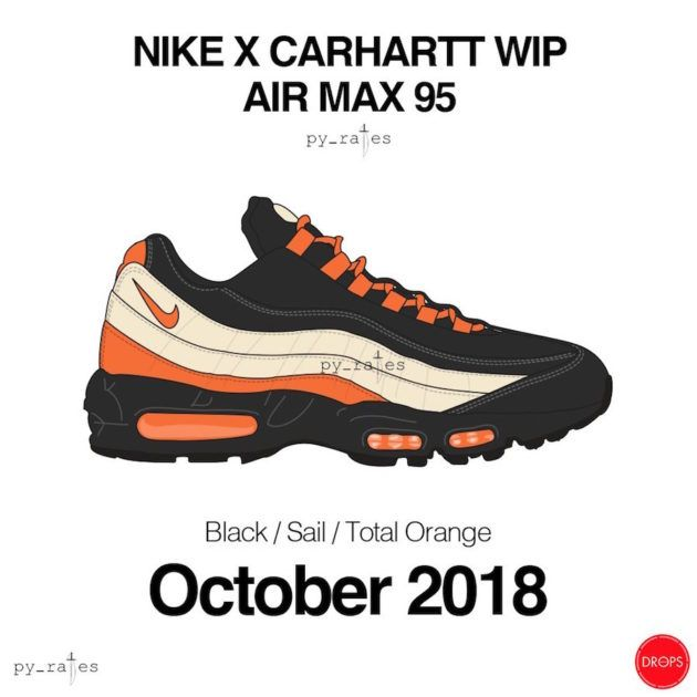 7cb6ff825b0e Carhartt WIP x Nike Air Max 95 Collab Said To Be Dropping This Year We let