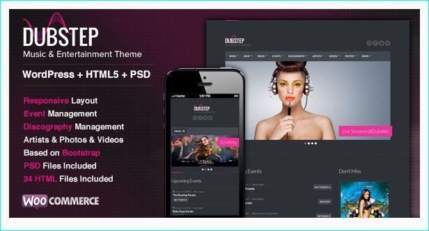 24 Best WordPress Themes For Musicians, DJs, Events or Nightlife ...