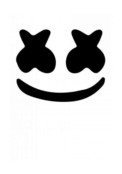 Marshmello Eyes Helmet Template