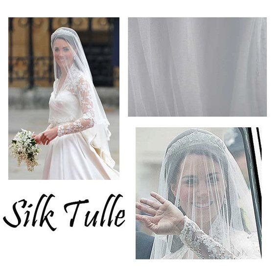 Silk Veil Bridal Tulle Fabric Netting D 68