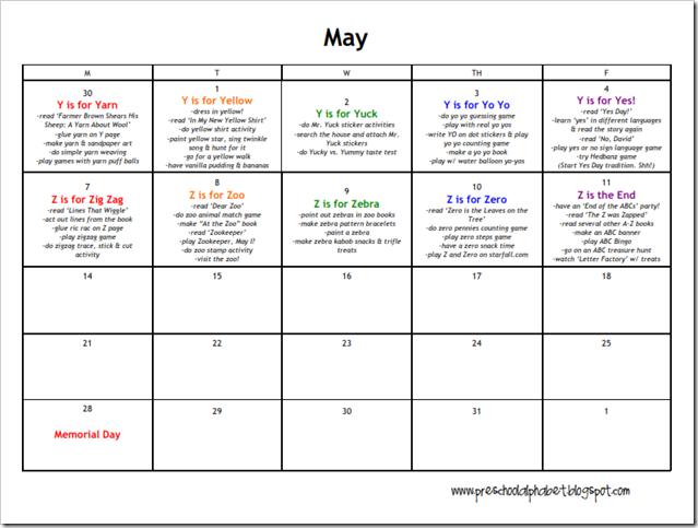 may preschool themes may preschool calendar preschool 236