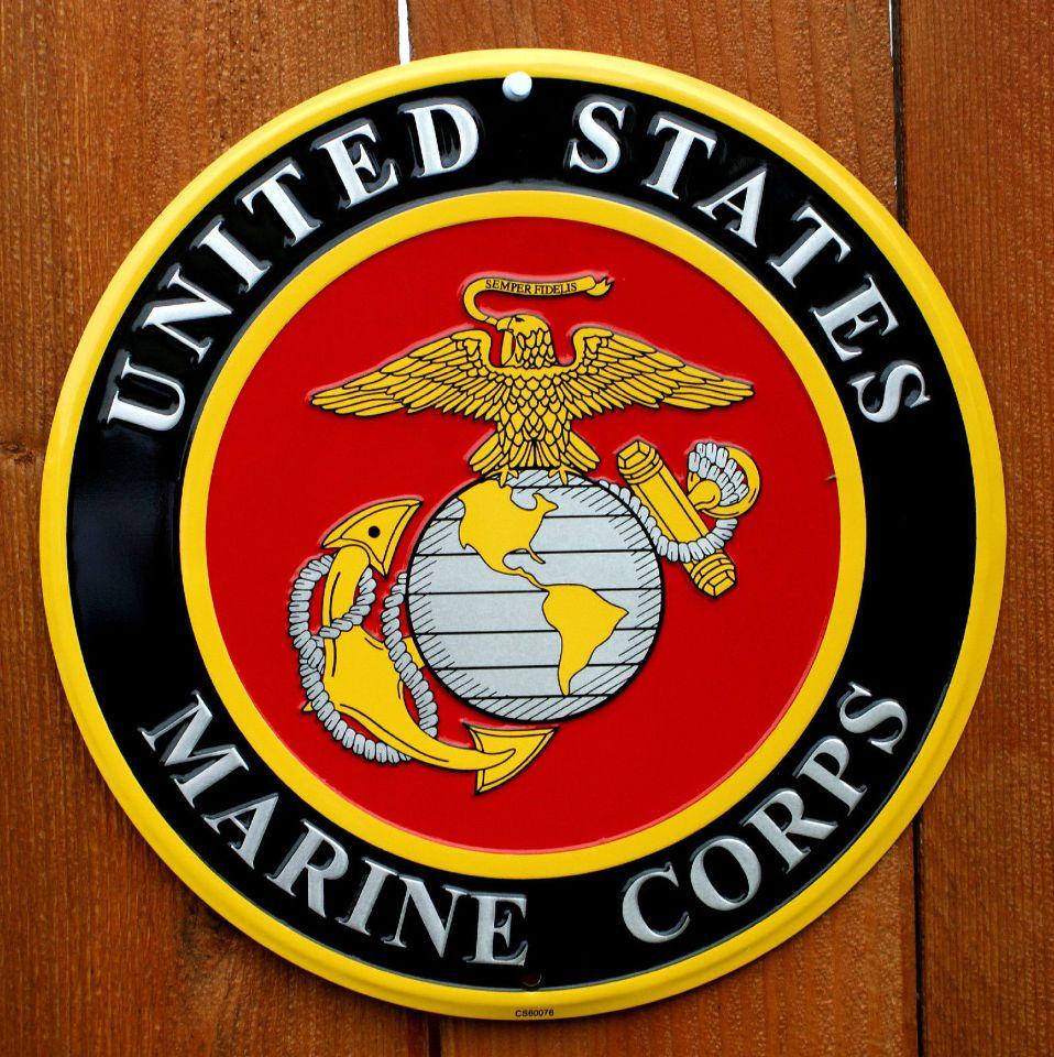 United States Marine Corps Tin Sign Military America USA Semper Fi E58