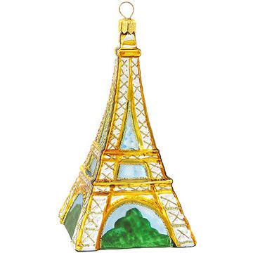 Eiffel Tower Glass Ornament Tower, Ornament and Christmas time