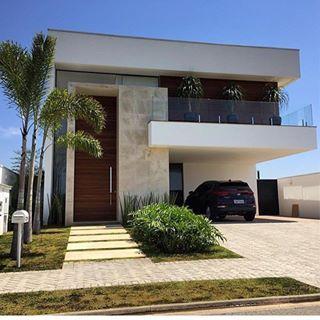 40 fachadas de casas modernas e esculturais maravilhosas for Fachadas de casas modernas 1 piso