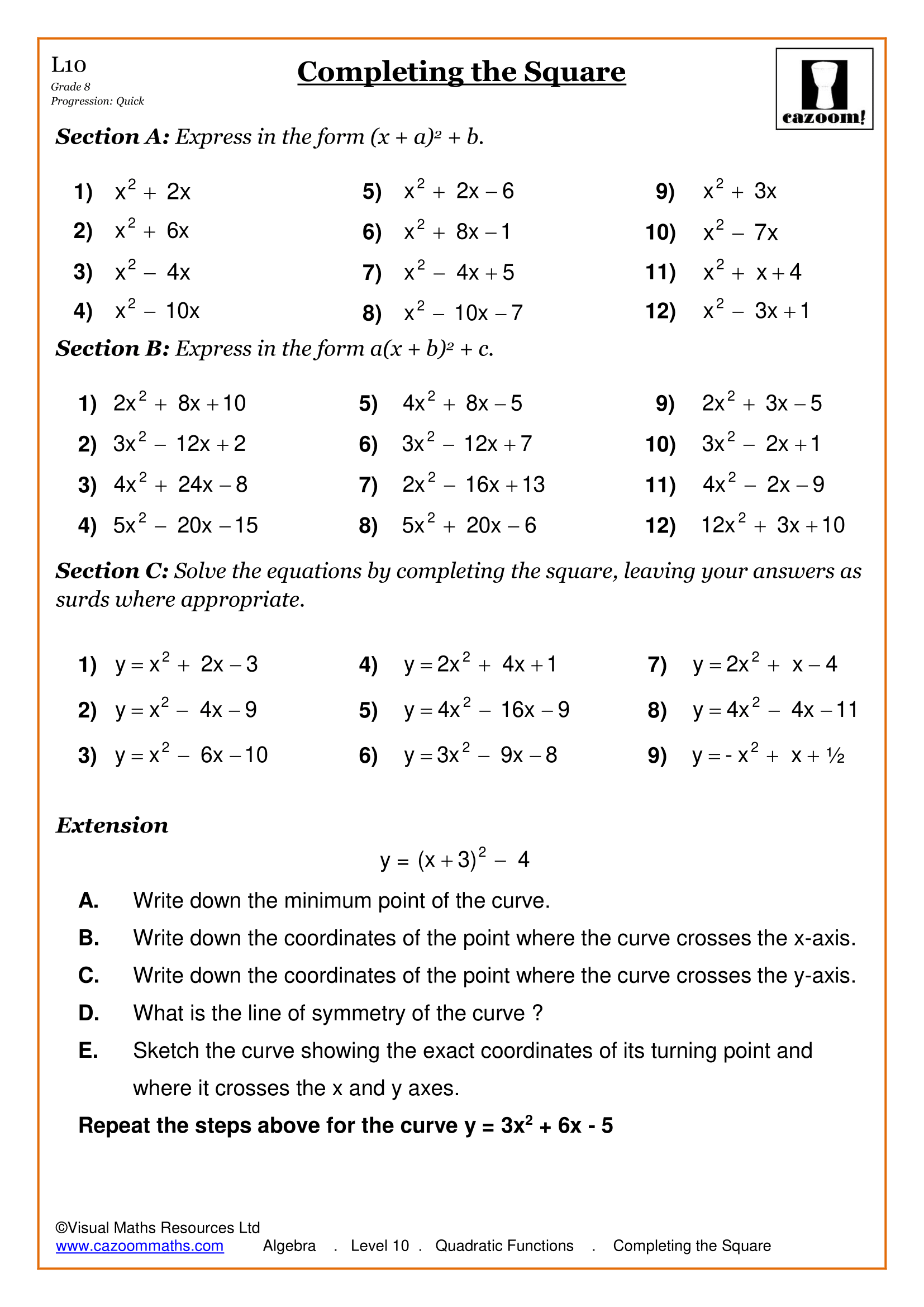Free Maths Worksheet S With Answers Math Worksheet Free Math Worksheets Algebra Worksheets