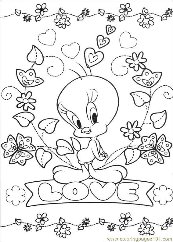 Tweety Bird Coloring Pages Coloring Pages Tweety 65 Cartoons Tweety Bird Free Printab Bird Coloring Pages Love Coloring Pages Valentine Coloring Pages