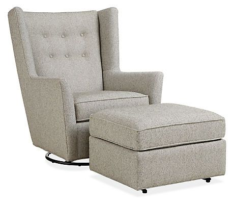 Wren Swivel Glider Chair & Ottoman in Tepic - Modern Recliners & Lounge Chairs - Modern Living Room Furniture - Room & Board