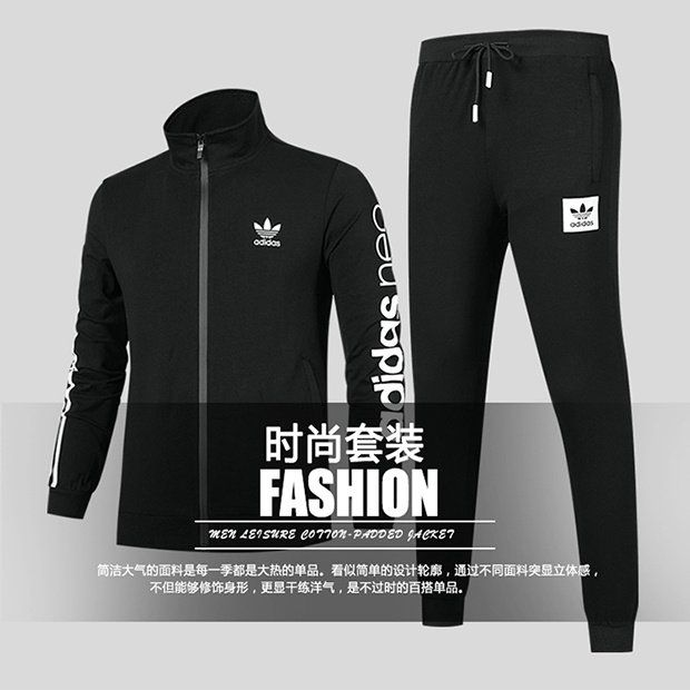 25eb77a8a81 2018 Shop adidas Originals Sweater and Long Pants Fashion Trend H98608  L-4XL Black