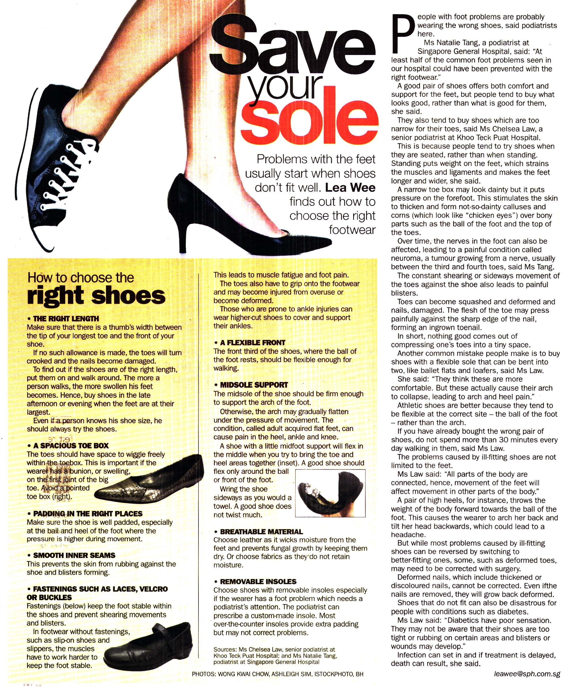 How to choose shoes