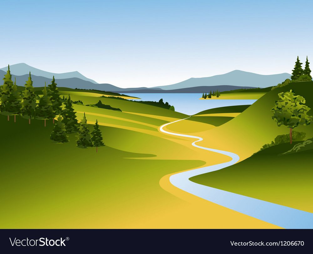 Mountain Landscape With River Royalty Free Vector Image Spon River Landscape Mountain Royalty Ad Mountain Landscape Christmas Landscape Landscape