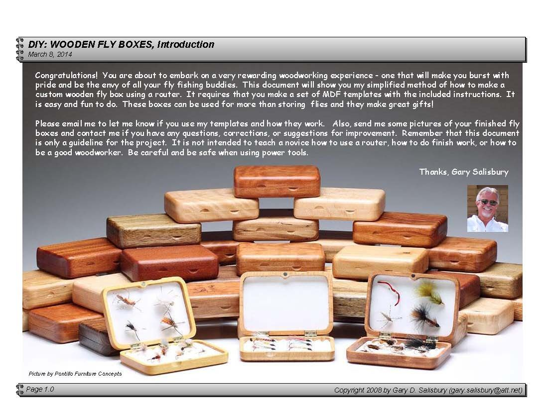 Diy wooden fly box. Wooden box plans, Fly box, Small